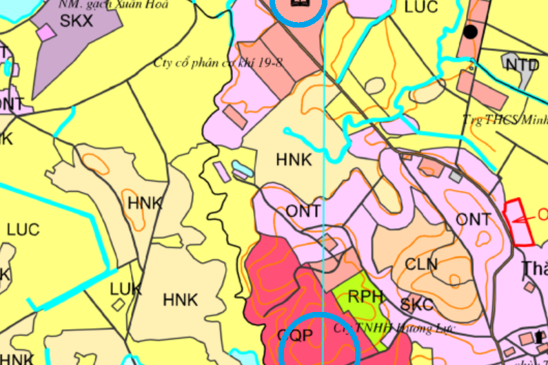 Đất dính quy hoạch ở xã Minh Trí, Sóc Sơn, Hà Nội
