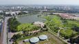 Toàn cảnh công viên CV-02 Khu đô thị mới Việt Hưng xuống cấp đang chờ dự án cải tạo