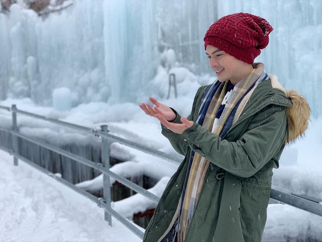 Nam Cường chia sẻ bí kíp sống ảo khi du lịch Nhật Bản mùa tuyết trắng  - Ảnh 1.