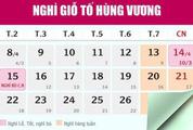 Lịch nghỉ chính chức lễ giỗ Tổ Hùng Vương và nghỉ 30/4 - 1/5 năm 2019