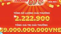 Chỉ sau 12h đầu tiên kích hoạt, 10.000 người dùng ứng dụng MEGA1 đã trúng thưởng