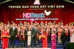 HDBank nhận giải thưởng Sao Vàng Đất Việt 2018